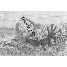 Bicycle Girl - Original Drawing